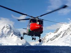 HMS Endurance Lynx in the Lemaire Channel Antarctica