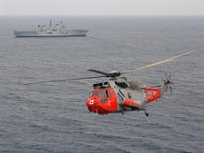 SAR Sea King with HMS Illustrious