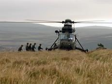 845NAS with Recce Troop 42 Cdo, Dartmoor