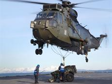 CHF Sea King Vertical replenishment HMS Albion
