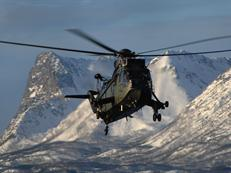 Sea King troop transporting in Norway