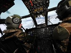 View from the cockpit of a CHF Sea King