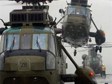 Sea King operating with 42 Cdo RM aboard HMS Ocean