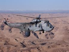 849 NAS Sea King over the desert