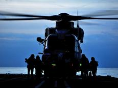 Merlin helicopter of 824 NAS aboard RFA Argus