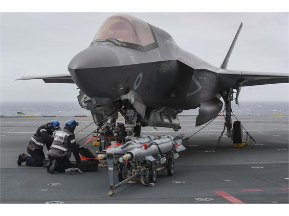 F-35 JETS ON HMS QUEEN ELIZABETH COMPLETE LIVE WEAPONS TRAINING