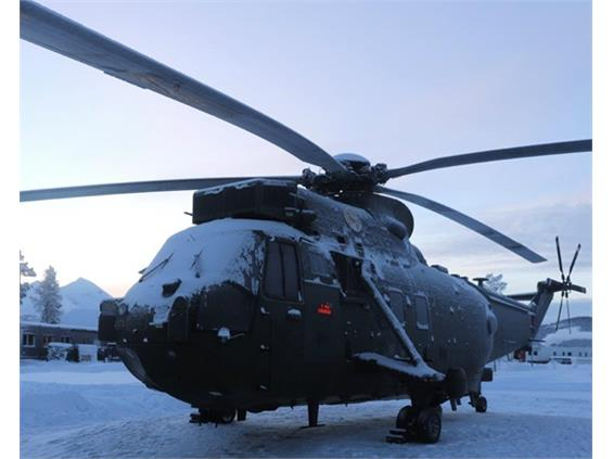 Junglie Sea King finds permanent home in Arctic