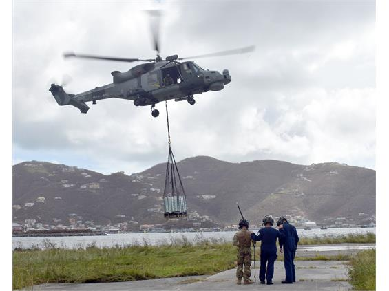 Royal Navy deliver vital aid to the British Virgin Islands