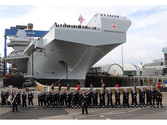 Marvel at HMS Prince of Wales as Britain's new carrier is named