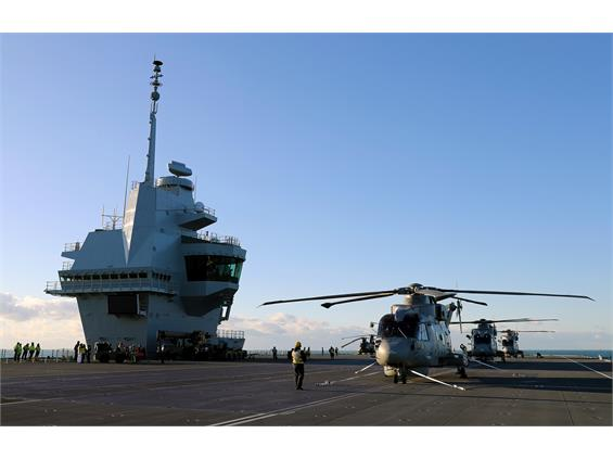 First Naval Air Squadron embarks HMS Queen Elizabeth