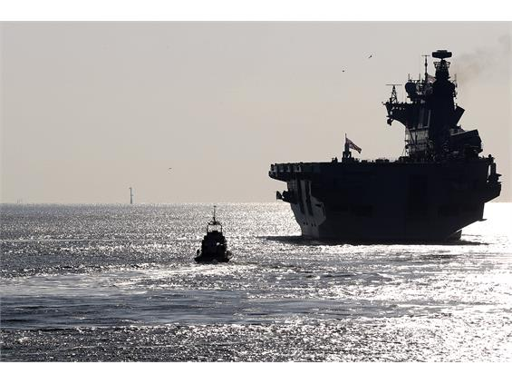 HMS OCEAN SAILS FROM PORTSMOUTH FOR FINAL TIME