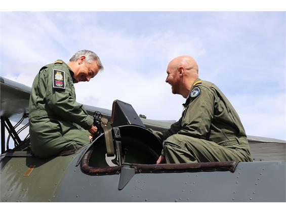 ROYAL NAVY FAST JET PILOT GOES BACK TO THE FUTURE