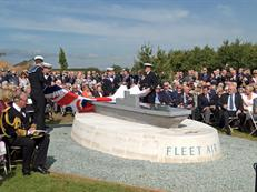 Unveiling the FAA memorial at the dedication