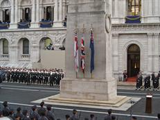 The Cenotaph 2009 before the march past