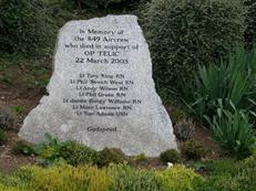 Memorial stone to 849NAS men killed in Op Telic