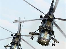 Sea King Mk4 helicopters from 845 NAS