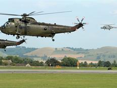 Sea King and Lynx helicopters of CHF
