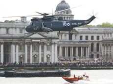 Sea King Display in front of Old Naval College Greenwich