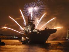 Fireworks over HMS Illustrious