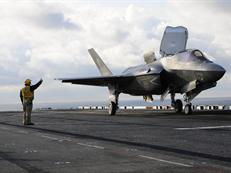 F-35B prepares to take off