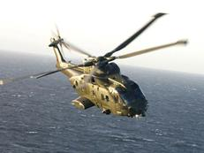 Merlin HC3 over the sea
