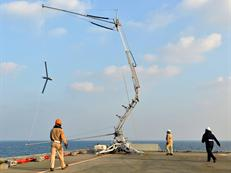 ScanEagle and the retrieving frame or Sky Hook