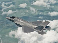 UK's first F-35B in flight