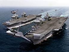 F-35B leaves the new QE class carriers