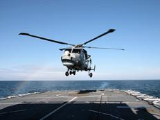 Army variant Wildcat on HMS Lancaster