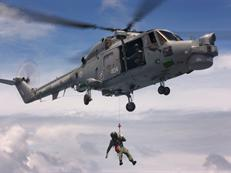 Lynx helicopter winching