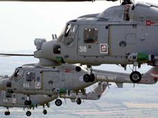 Three Lynx helicopters from 815 NAS