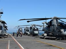 Merlin Mk2s aboard HMS Illustrious