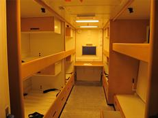 Cabins inside HMS Queen Elizabeth