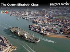 Queen Elizabeth leaves Portsmouth