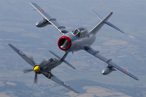 MiG-15 and Sea Fury T20 © Aviation Photocrew