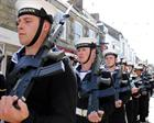 HMS Seahawk Freedom of Helston Parade Bayonets fixed