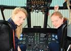 771 NAS Work Experience Students Imojen Penry and Jessica King