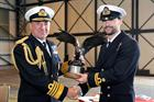 First Sea Lord and Chief of Naval Staff Sir George Zambellas and Lt Mike Curd
