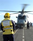 HMS Illustrious flight deck with Merlin