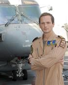 Lt Cdr Edwin Cooper, Flight Commander with Merlin Mk 1 onboard HMS Illustrious
