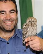 Lt Chris Patrick and the exhausted owl