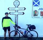 Start Post – Tony at the start John O'Groats