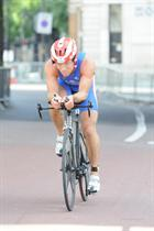 CPO Gusterson taking part in World Triathlon Championships