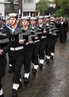 HMS Seahawk Guard march past Madron parade