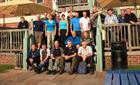 RNR Air Branch personnel after 'Yomping' part of the Solent way