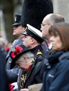 Lt Cdr Mark Tetley at The Cenotaph