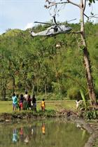 Bringing aid to isolated villages