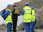 HM Coastguard & Police at Porthkerris