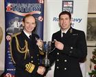 CPO Dave Pascoe of 771 NAS winning the RN sportsman of the Year award