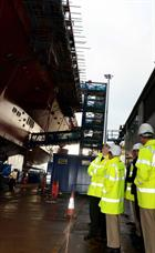 Senior members of the US Navy and US Marine Corps visited HMS Queen Elizabeth